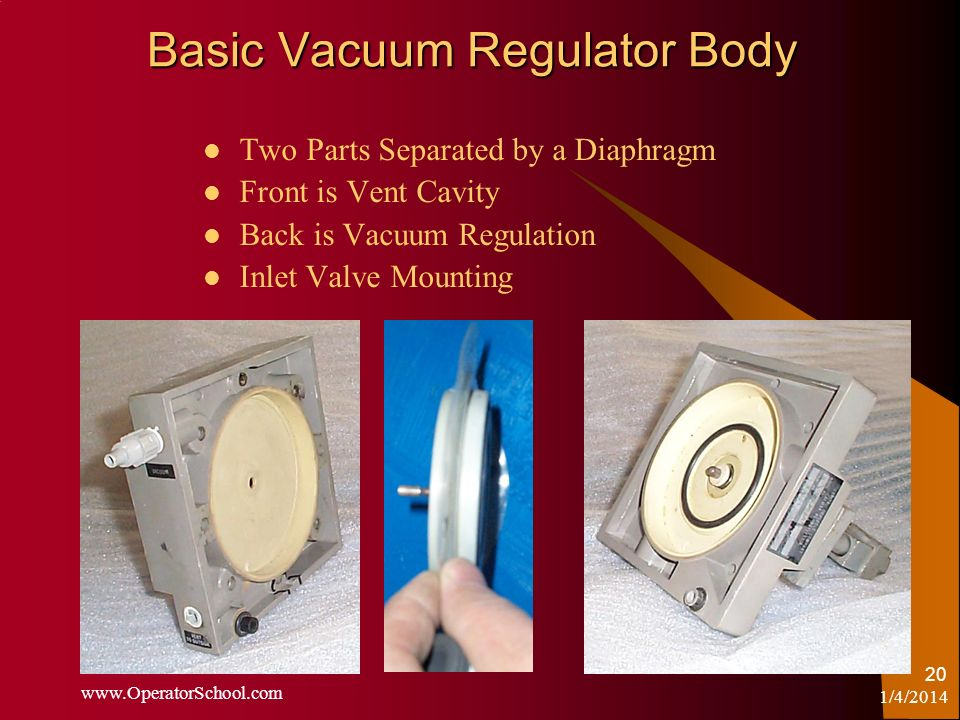 Basic Vacuum Regulator Body