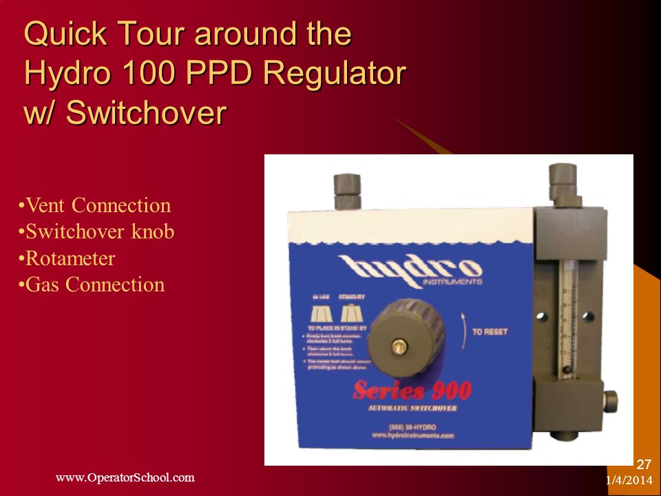 Quick Tour around the Hydro 100 PPD Regulator w/ Switchover