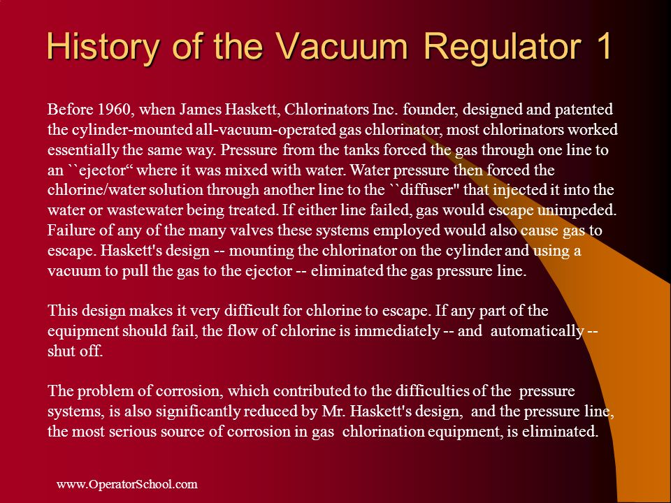 History of the Vacuum Regulator 1