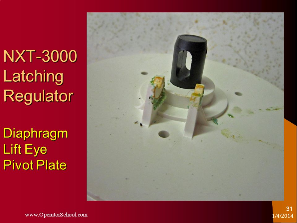 NXT-3000 Latching Regulator Diaphragm Lift Eye Pivot Plate