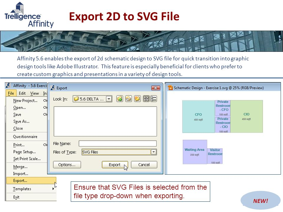Export 2D to SVG File
