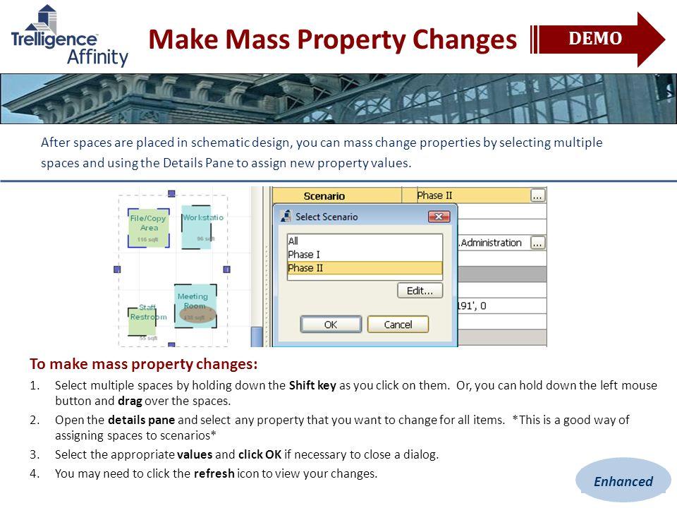 Make Mass Property Changes