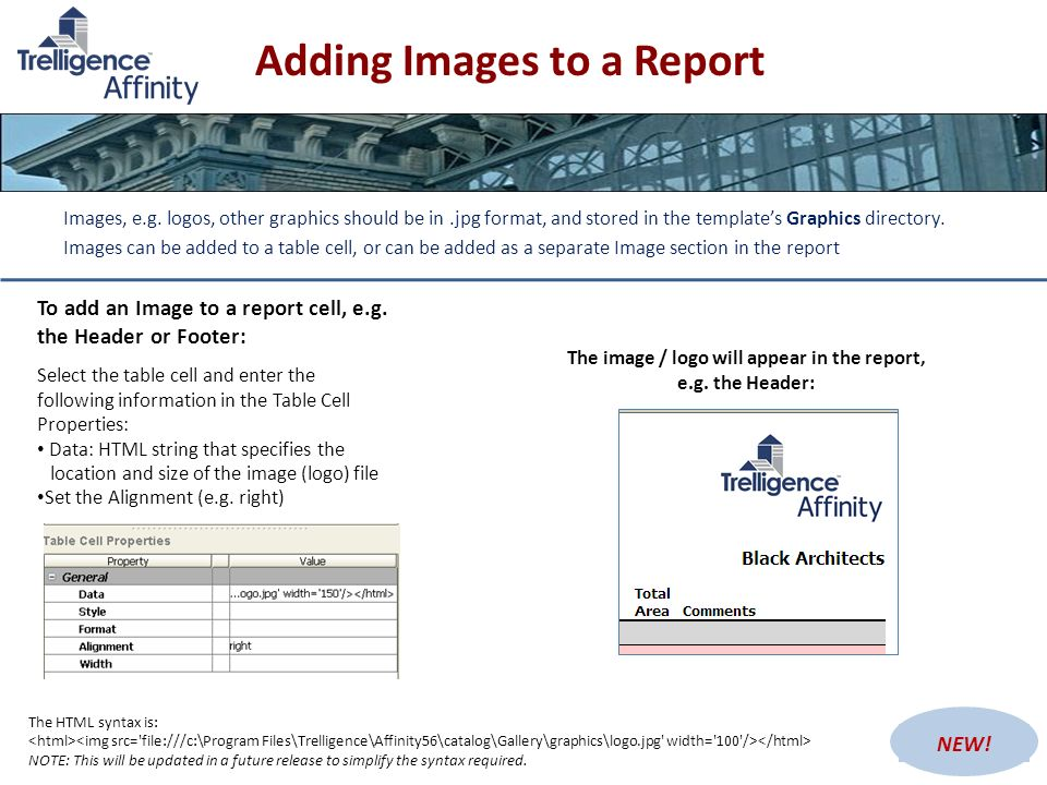 Adding Images to a Report