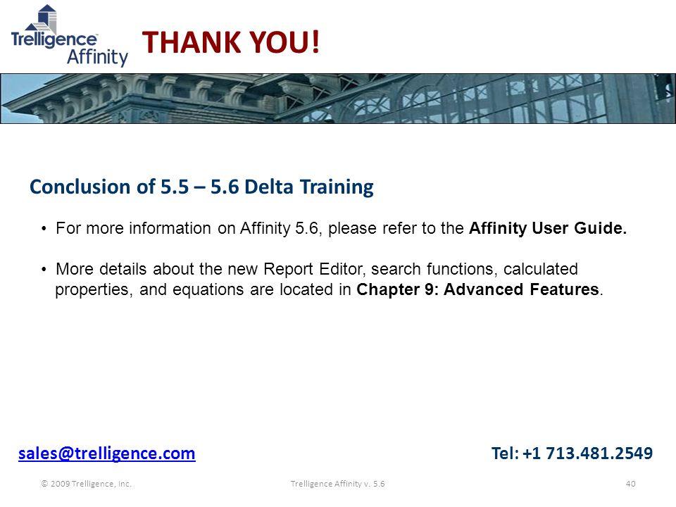 Trelligence Affinity v. 5.6