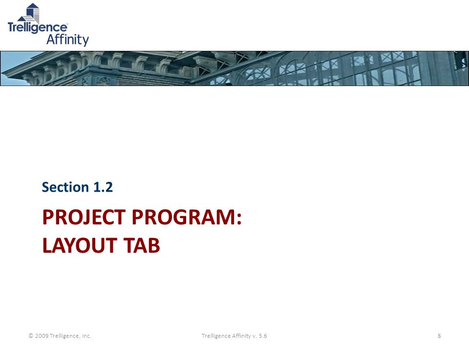 Project Program: Layout Tab
