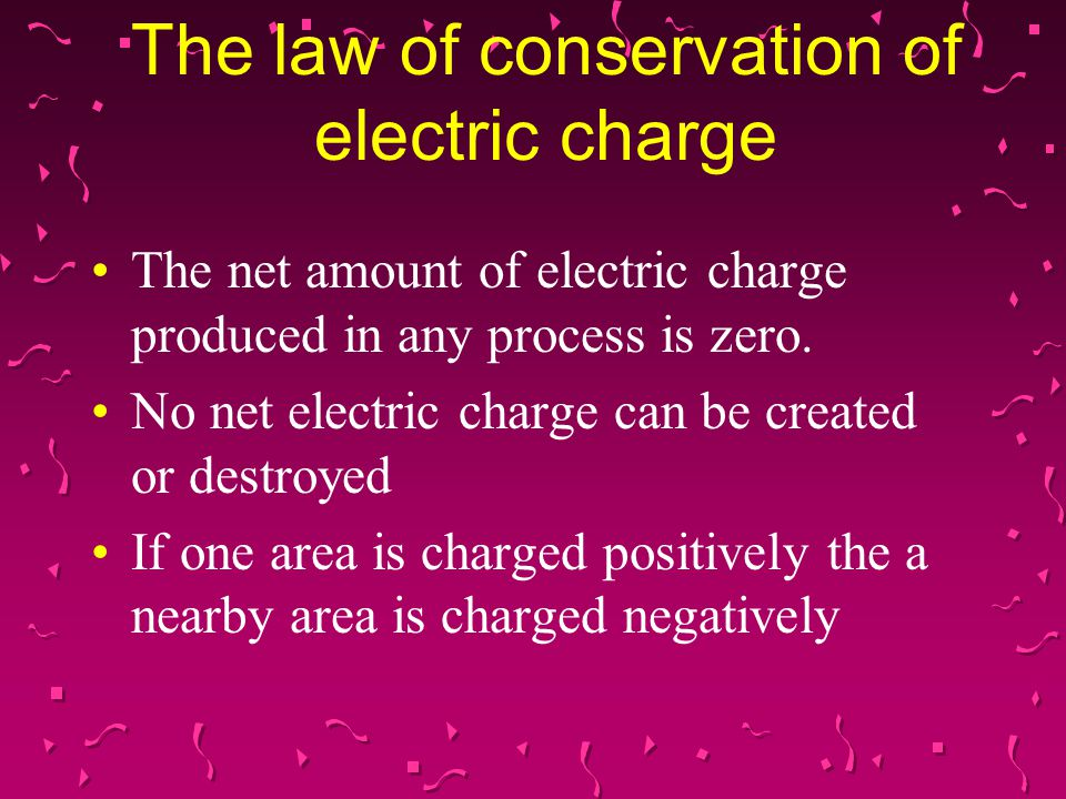 The law of conservation of electric charge