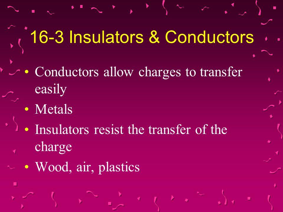 16-3 Insulators & Conductors