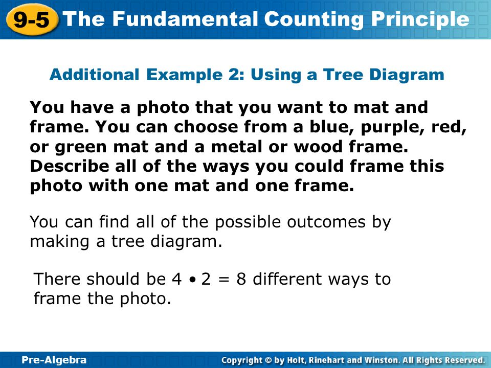 Additional Example 2: Using a Tree Diagram