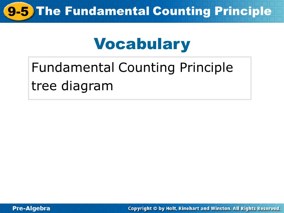 Vocabulary Fundamental Counting Principle tree diagram