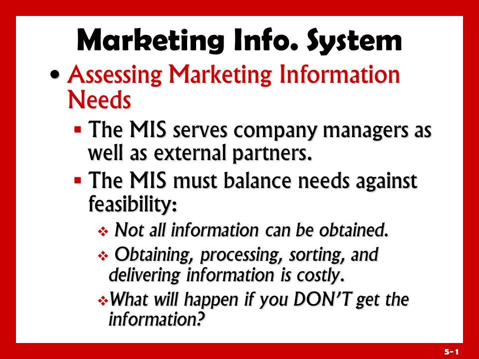 Marketing Info. System Assessing Marketing Information Needs