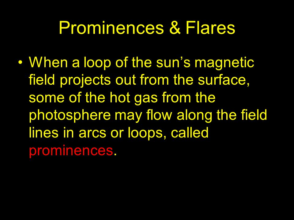 Prominences & Flares