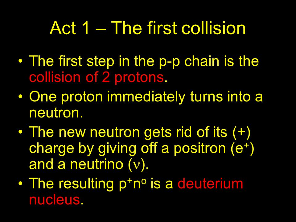 Act 1 – The first collision