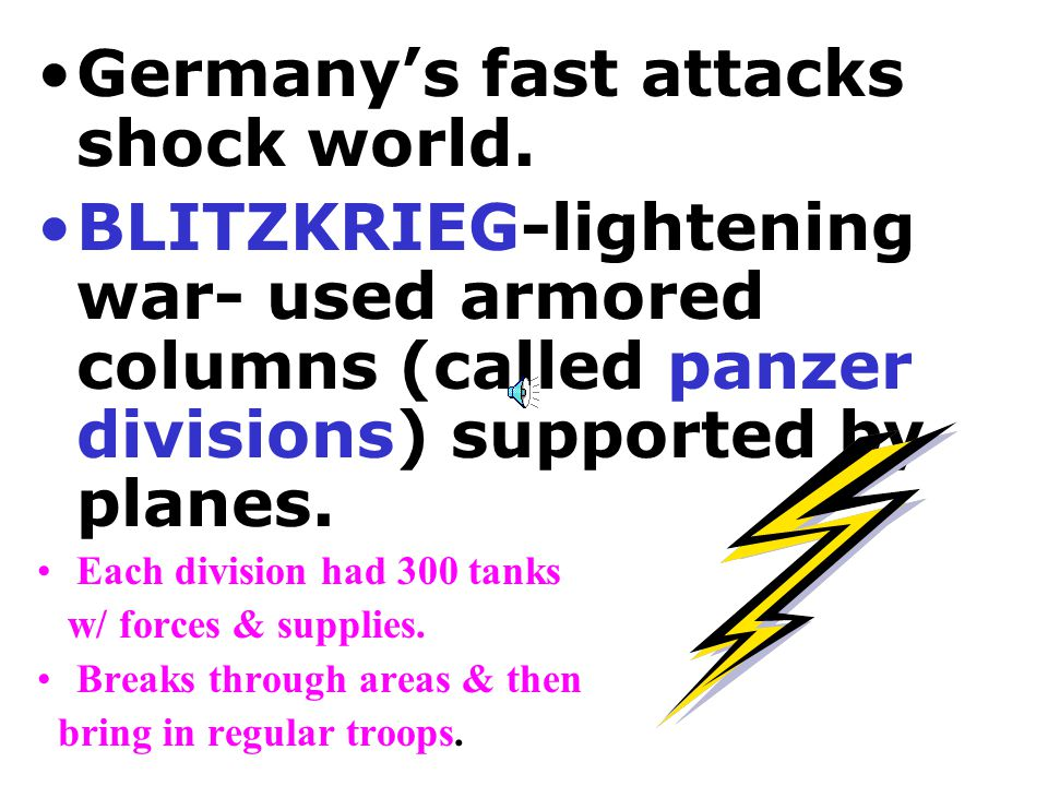 Germany's fast attacks shock world.