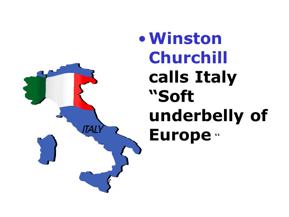 Winston Churchill calls Italy Soft underbelly of Europe