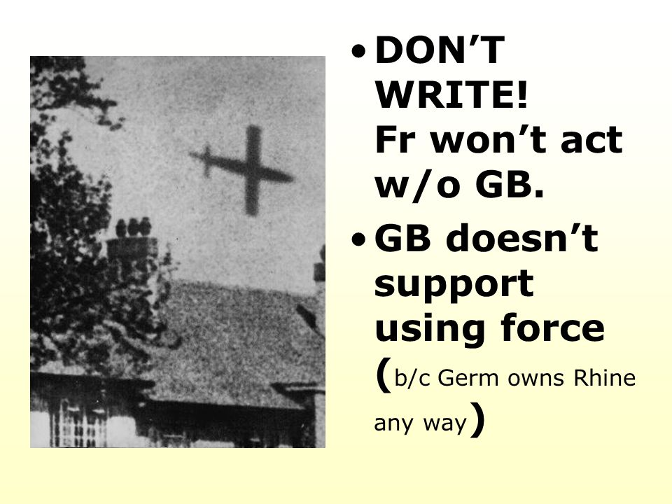 DON'T WRITE! Fr won't act w/o GB.