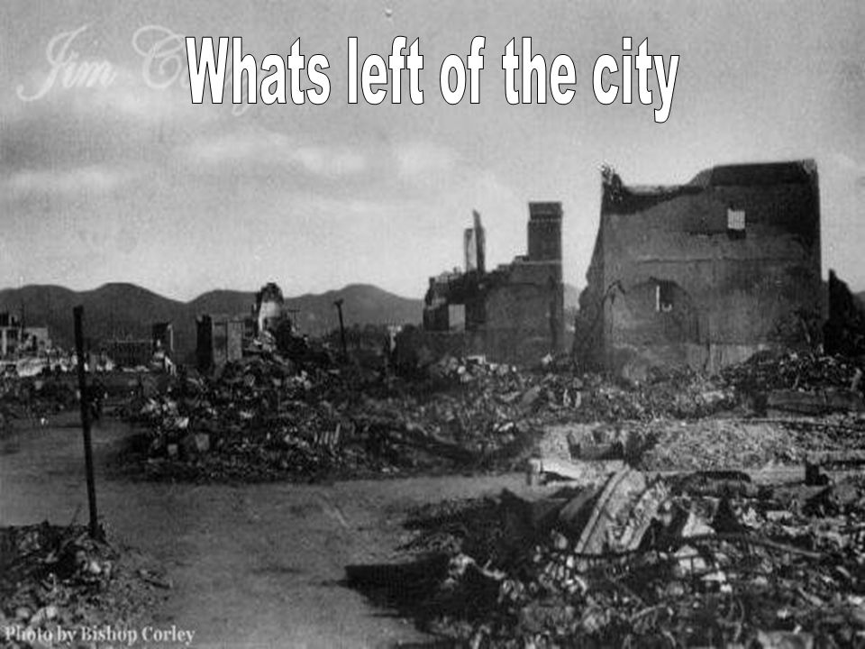 Whats left of the city