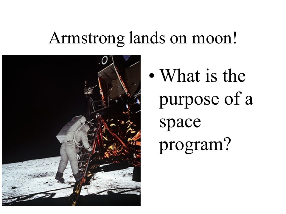 Armstrong lands on moon!