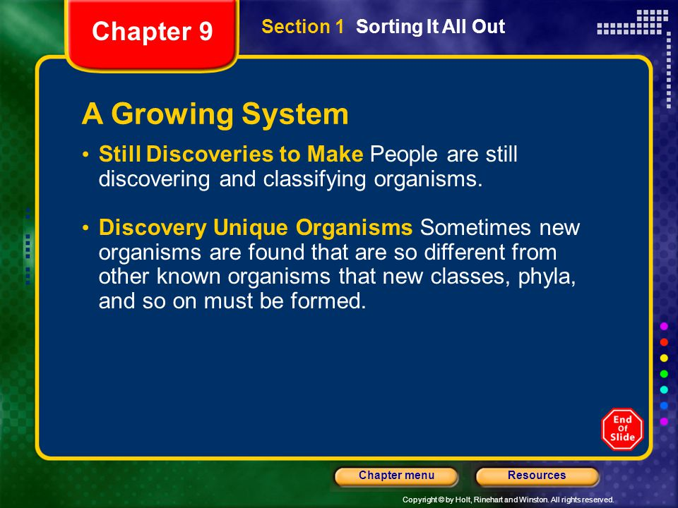 A Growing System Chapter 9