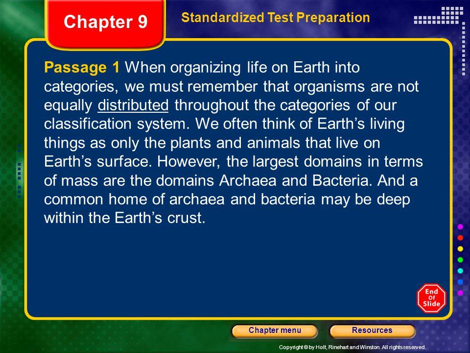 Chapter 9 Standardized Test Preparation.