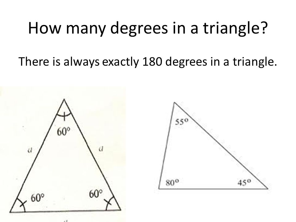 How many degrees in a triangle