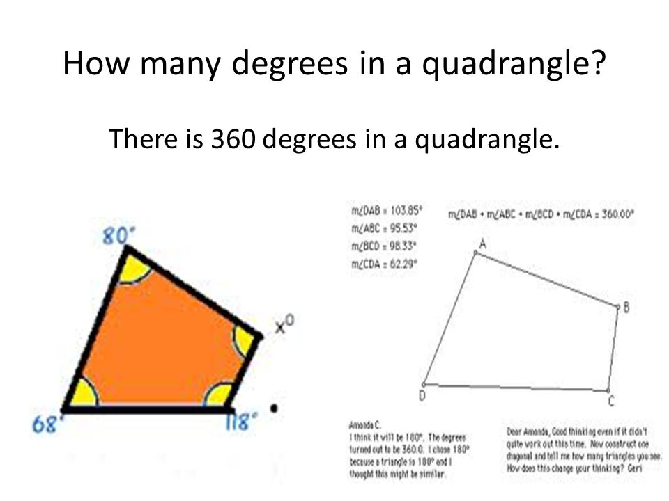 How many degrees in a quadrangle