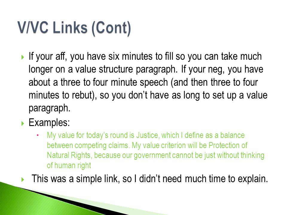 V/VC Links (Cont)