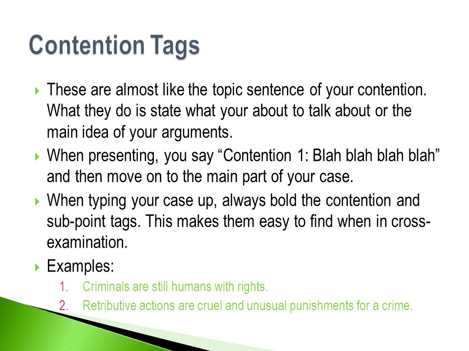 Contention Tags
