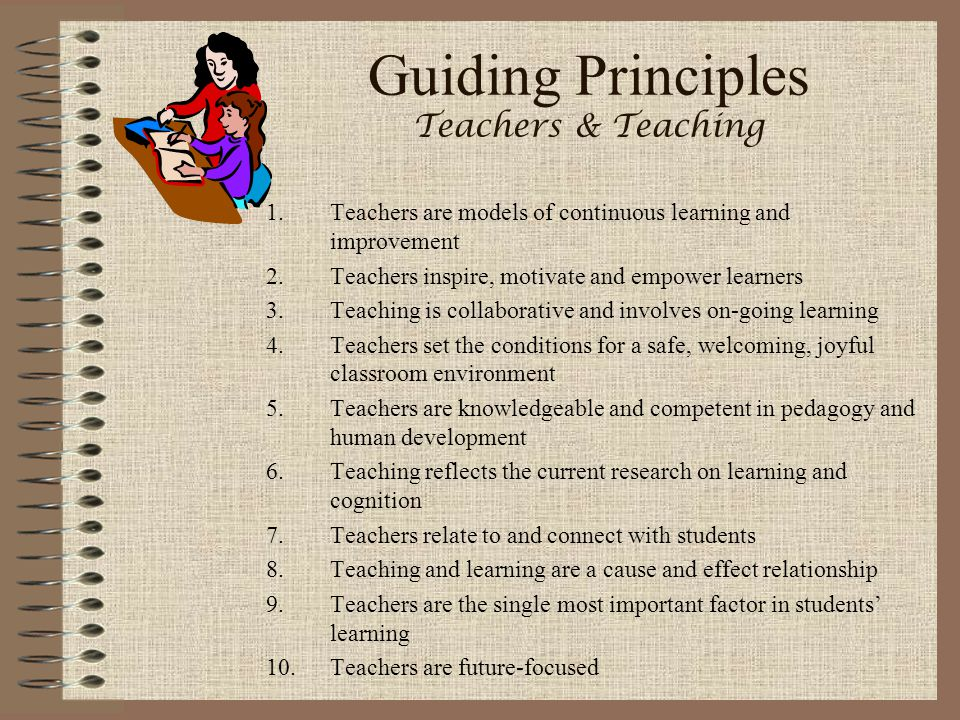 Guiding Principles Teachers & Teaching