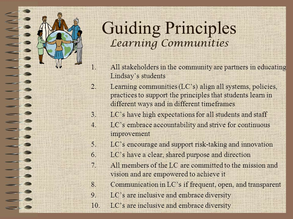 Guiding Principles Learning Communities