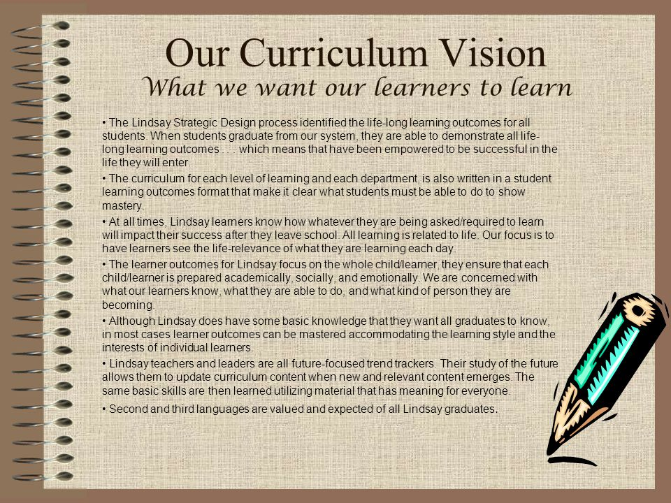 Our Curriculum Vision What we want our learners to learn