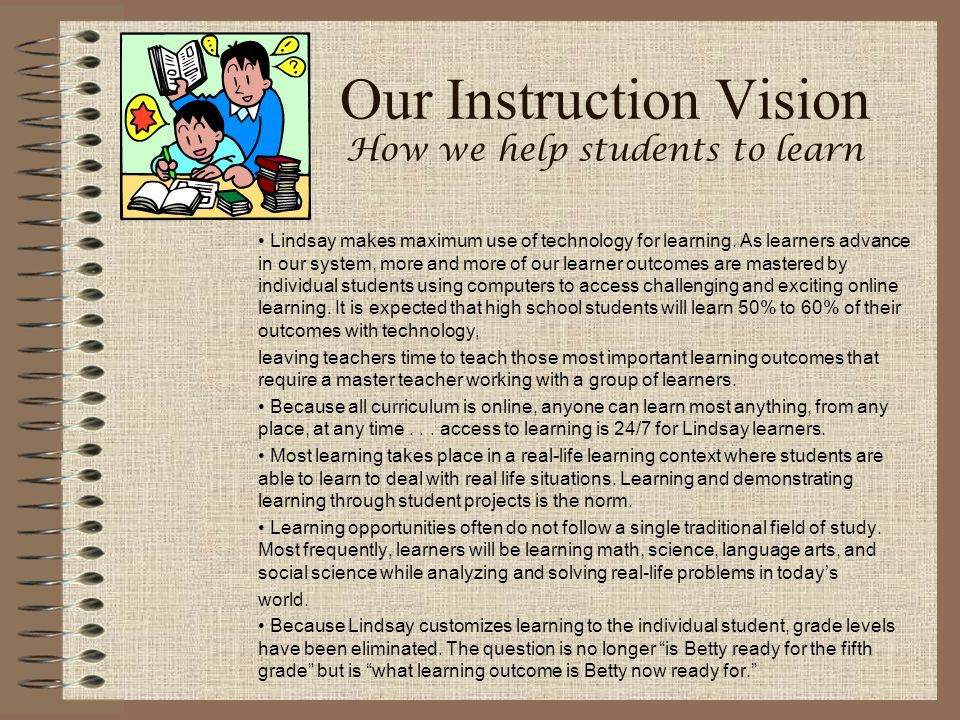 Our Instruction Vision How we help students to learn
