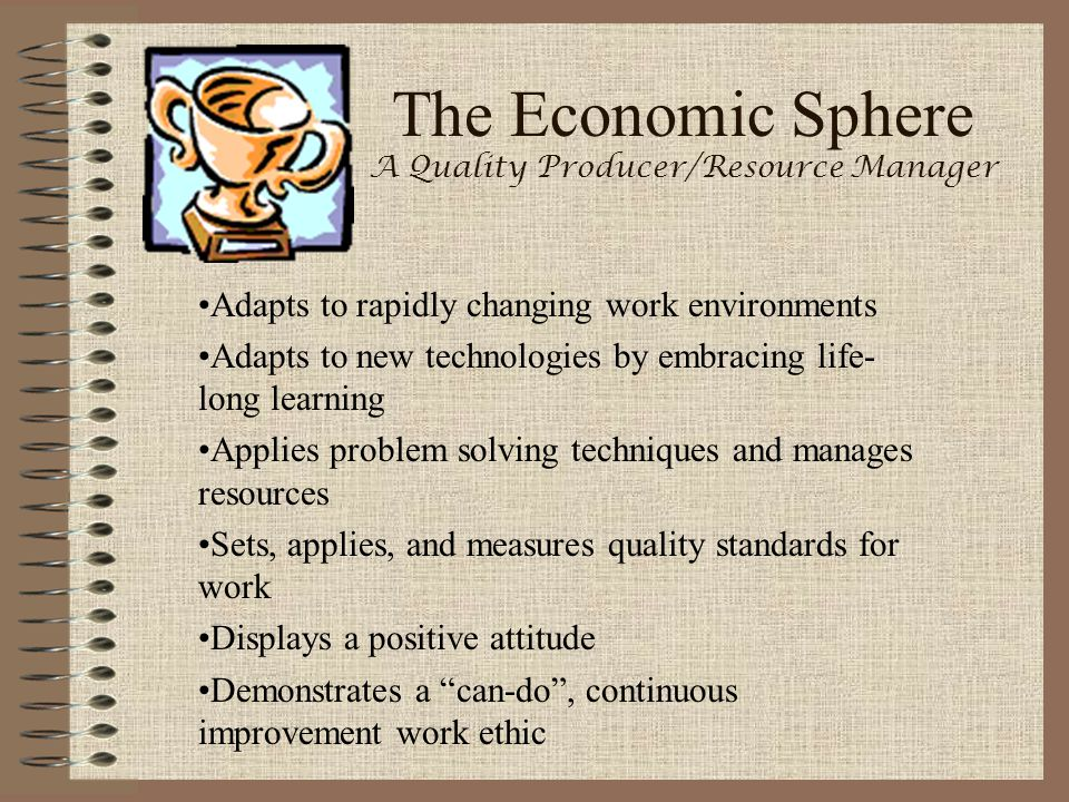 The Economic Sphere A Quality Producer/Resource Manager