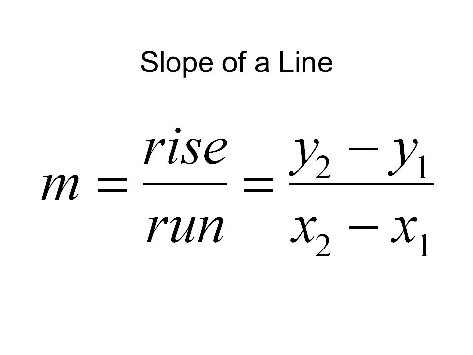 Slope of a Line Notice that this is the rate of change of y with respect to x.