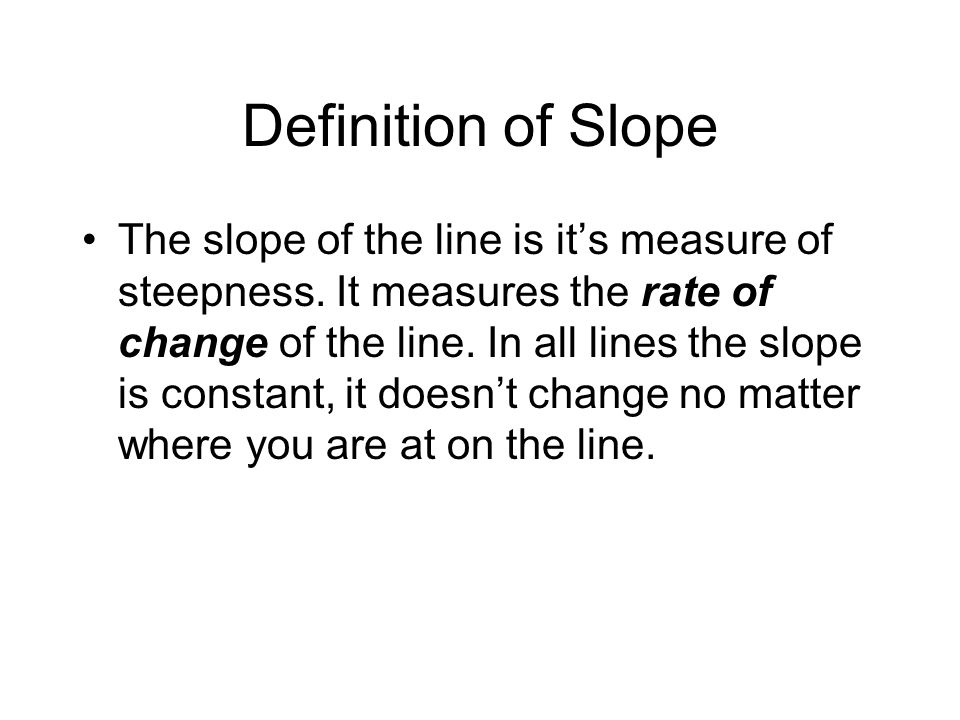 Definition of Slope