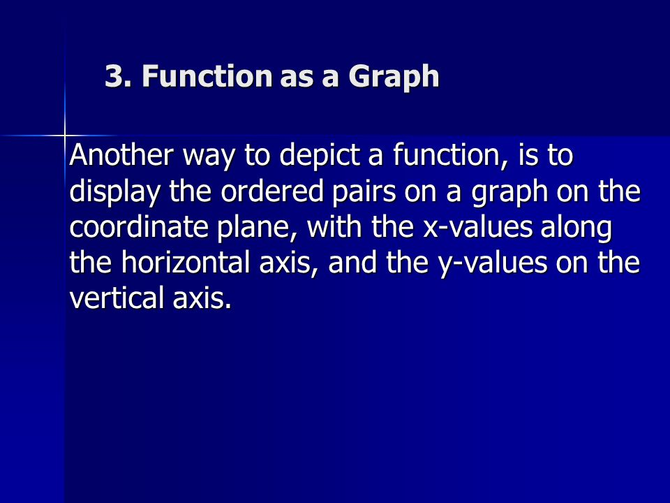 3. Function as a Graph