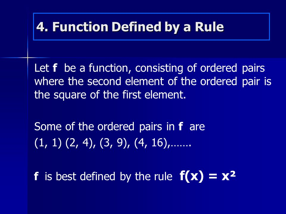 4. Function Defined by a Rule