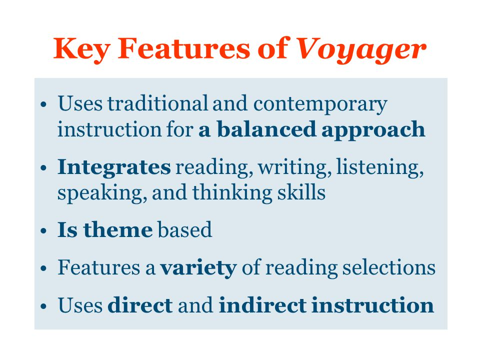 Key Features of Voyager