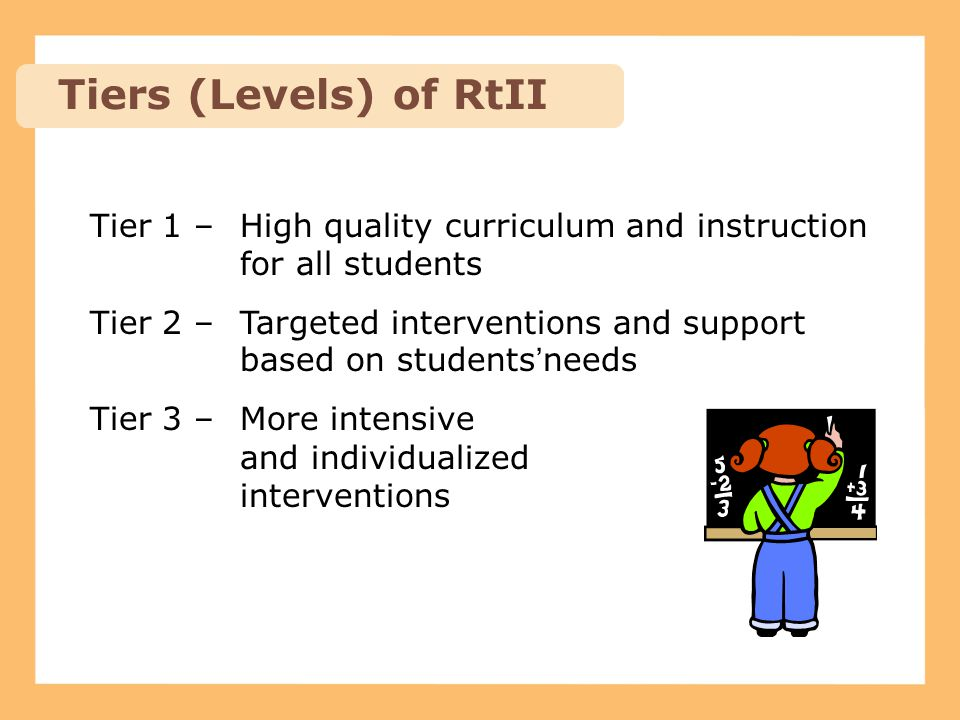 Tiers (Levels) of RtII