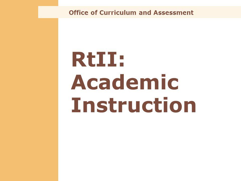 RtII: Academic Instruction