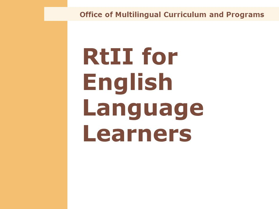 RtII for English Language Learners