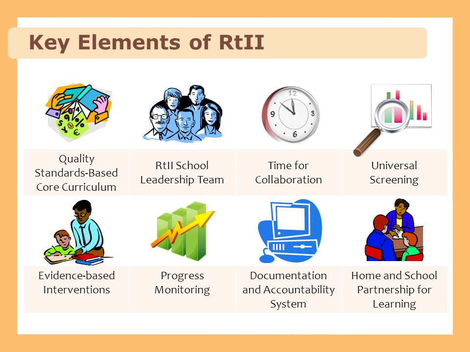 Key Elements of RtII Quality Standards-Based Core Curriculum