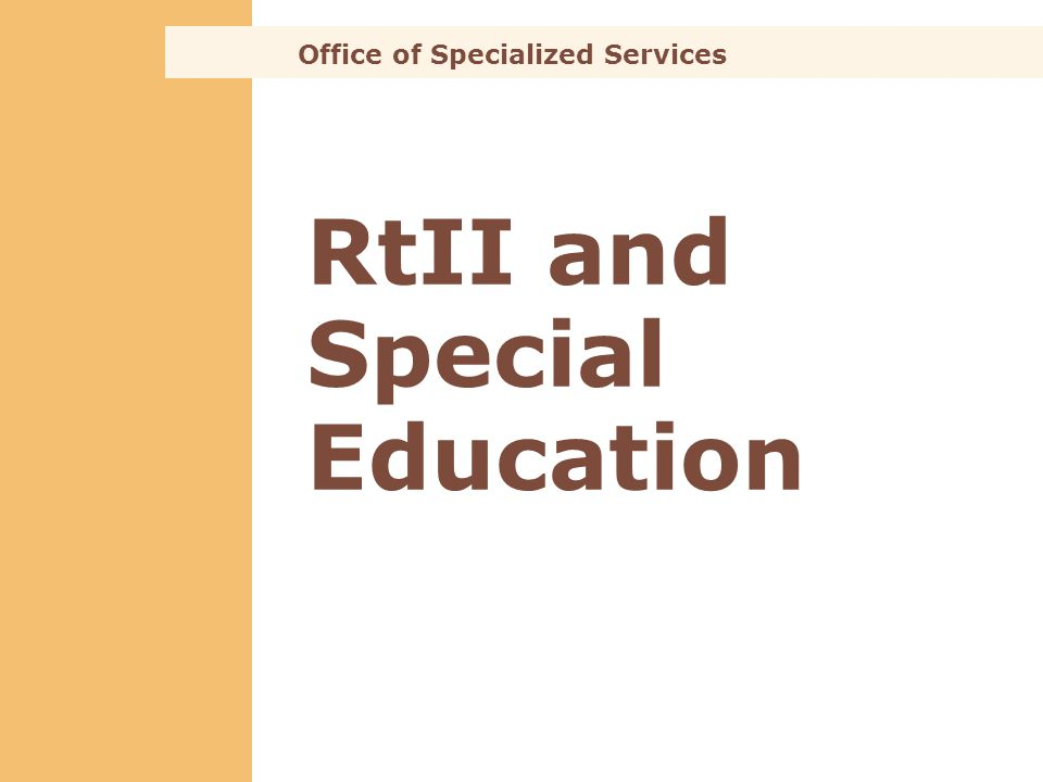 RtII and Special Education