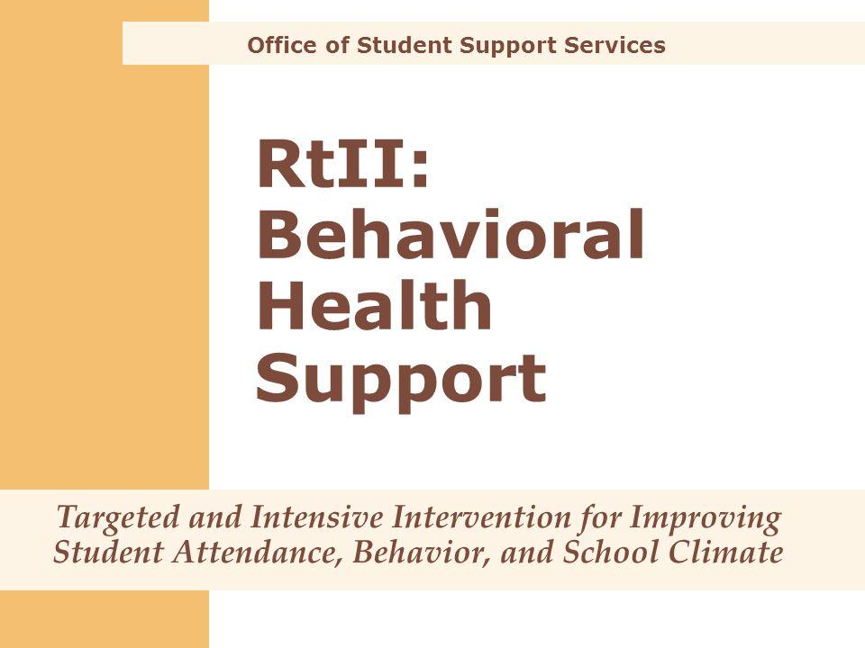 RtII: Behavioral Health Support
