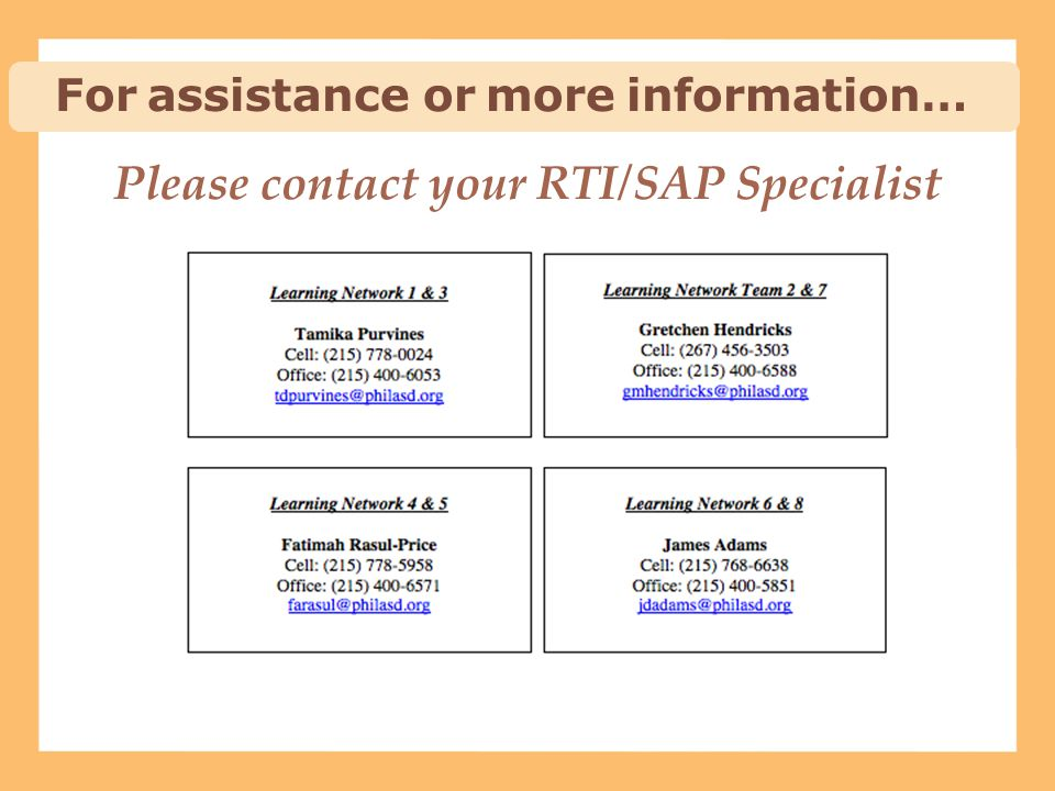 Please contact your RTI/SAP Specialist