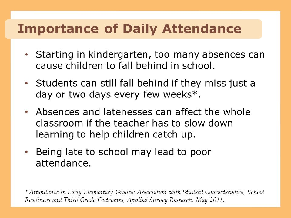 Importance of Daily Attendance