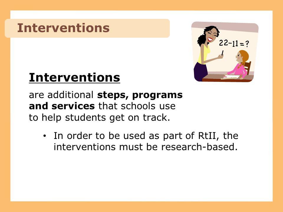 Interventions Interventions