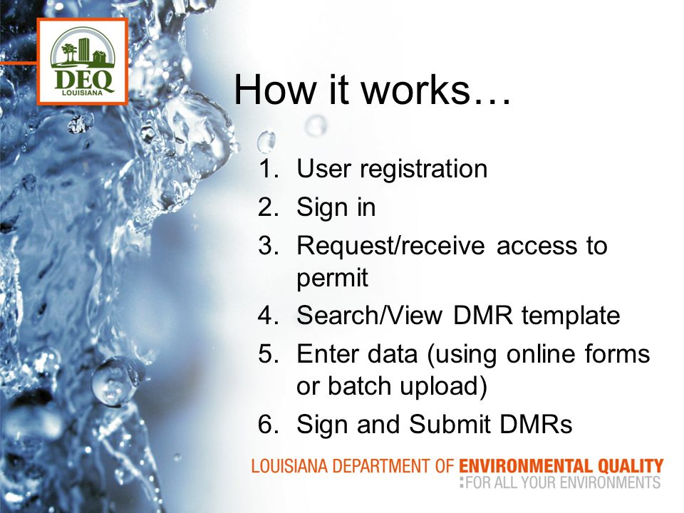 How it works… User registration Sign in