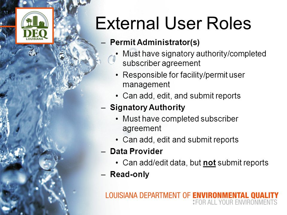 External User Roles Permit Administrator(s)