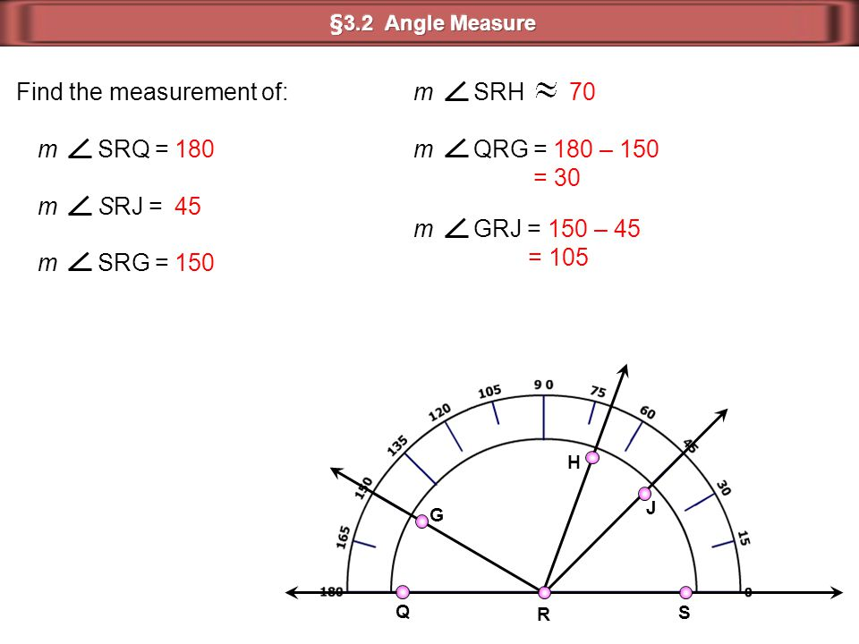 Find the measurement of: m SRH 70