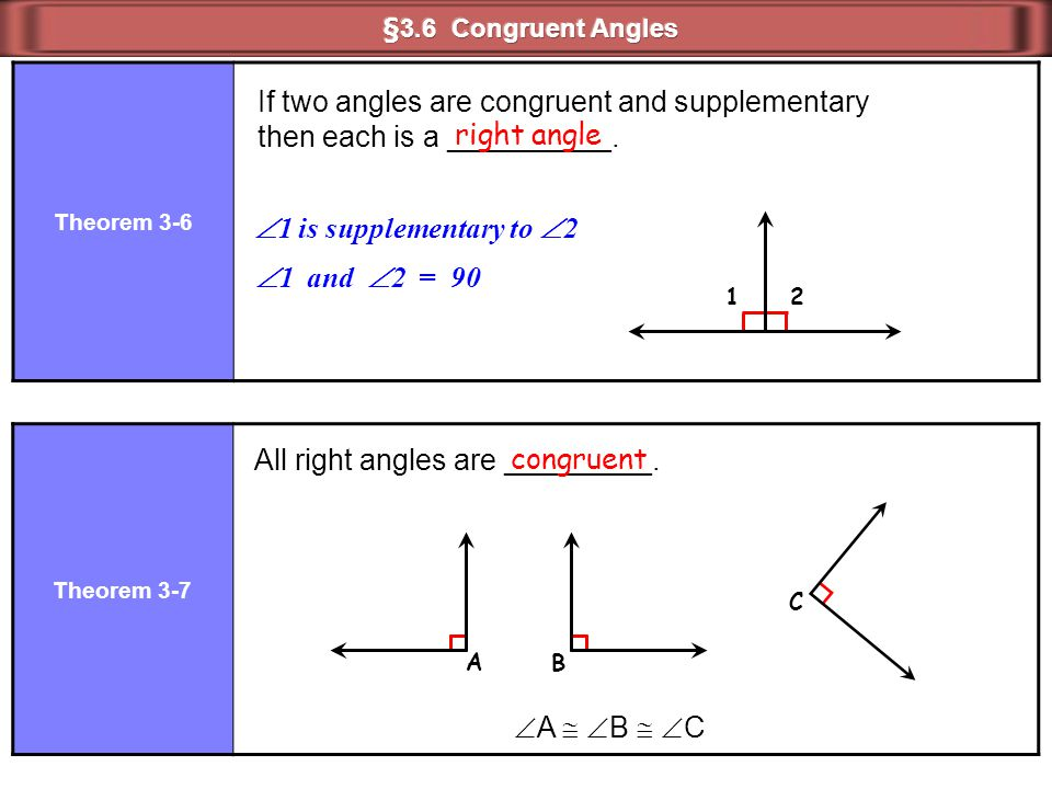 All right angles are _________. congruent